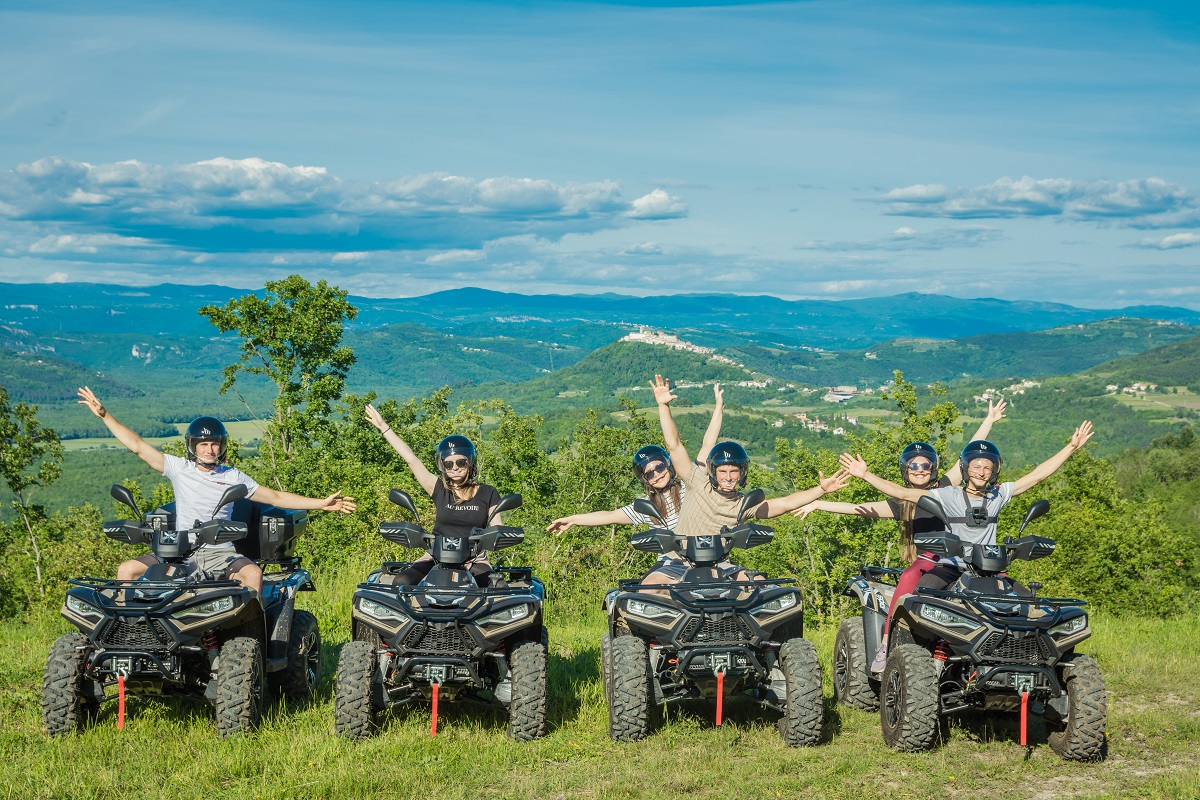 for quad and a view on Motovun