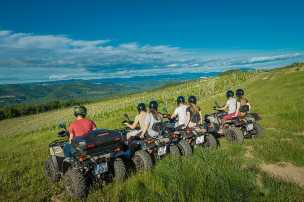 guests on a quad tour in Vizinada and Motovun