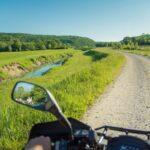 driving atv near the river Mirna in Istria