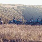 quad vehicles on the field in Croatia