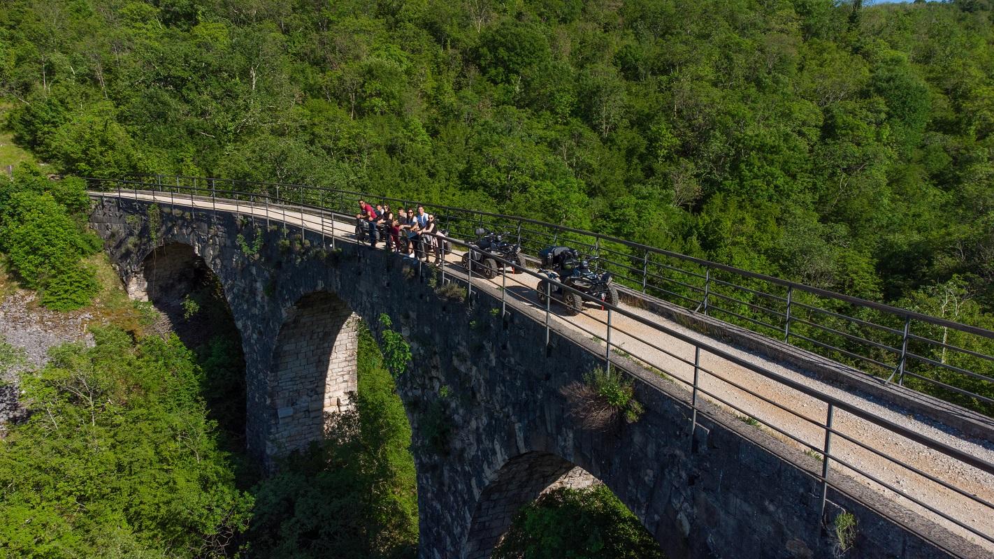 4 quads at the parenzana bridge in Vizinada